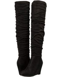 Chinese Laundry - Uma (black Suedette) Women's Pull-on Boots - Lyst