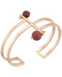 Lucky Brand - Painted Bead Cuff Bracelet (rose Gold) Bracelet - Lyst