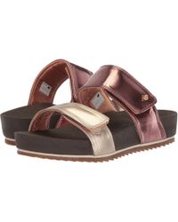 bbafc098d6c Lyst - Keen Rose City Slide Open Toe Leather Slides Sandal in Black