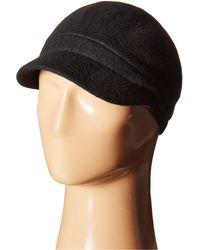 Betmar - Rhinestone Cap (black) Caps - Lyst