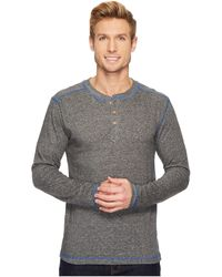 Vintage 1946 - French Terry Henley (charcoal) Men's Long Sleeve Pullover - Lyst