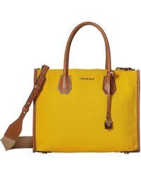 4cf8421eefb09 MICHAEL Michael Kors - Mercer Large Convertible Tote (jasmine Yellow) Tote  Handbags - Lyst