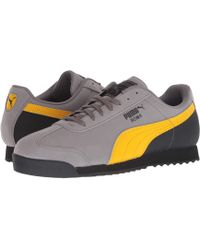 separation shoes 56e35 2cd15 PUMA - Roma Retro Nbk (steel Gray spectra Yellow  Black) Men s Shoes