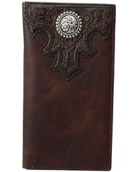 Ariat - Overlay Scroll Concho Croc Embossed Rodeo Wallet (brown) Wallet - Lyst