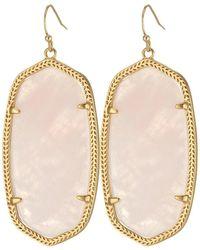 Kendra Scott - Danielle Earrings (rose Gold/brown Mother Of Pearl) Earring - Lyst