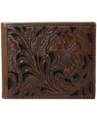 Ariat - Bifold Floral Embossed Wallet (brown) Wallet Handbags - Lyst