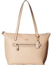 COACH - Taylor Tote In Pebbled Leather (li/beechwood) Tote Handbags - Lyst