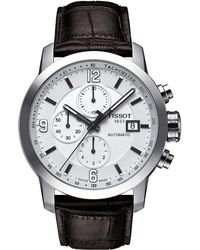 Tissot - Prc 200 Automatic Chronograph - T0554271601700 (mother-of-pearl/brown) Watches - Lyst