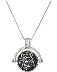 ALEX AND ANI - Wrinkle In Time - Dark And Stormy Night Spinner Expandable Necklace (shiny Silver) Necklace - Lyst