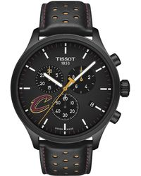 Tissot - Chrono Xl Nba Chronograph Cleveland Cavaliers - T1166173605101 (black/yellow/black) Watches - Lyst