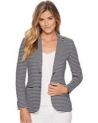 Lauren by Ralph Lauren - Striped Knit Cotton Jacket - Lyst