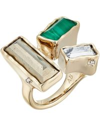Alexis Bittar - Molten Metal Stone Cluster Ring (10k Gold/rhodium Accents) Ring - Lyst