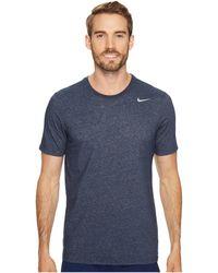 Nike - Dri-fittm Version 2.0 T-shirt (black Heather/black Heather/matte Silver) Men's T Shirt - Lyst