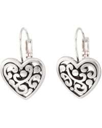 Brighton - Contempo Heart Leverback Earrings - Lyst