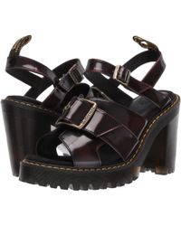 d9e85cddf378 Dr. Martens - Granik Sandal (black Smooth) Women s Sandals - Lyst