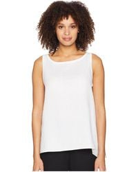 Eileen Fisher - Bateau Neck Shell (white) Women's Clothing - Lyst