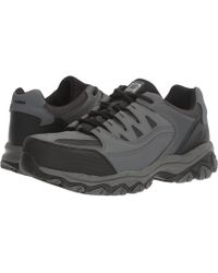 Skechers Work - Holdredge (gray Action Leather/trim) Men's Shoes - Lyst