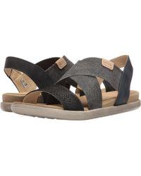 Ecco - Damara 2-strap Sandal (black/black/powder Cow Nubuck) Women's Sandals - Lyst