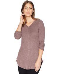 B Collection By Bobeau - Sweater Hoodie (plum Perfect) Women's Sweatshirt - Lyst