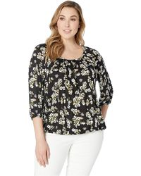 1c39a16e55f MICHAEL Michael Kors - Plus Size Glam Painterly Peasant (black ivy) Women s  Clothing