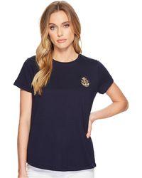Lauren by Ralph Lauren - Bullion-patch Cotton T-shirt - Lyst