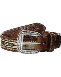 Ariat - Embossed Tab Ribbon Inlay Belt (brown) Men's Belts - Lyst