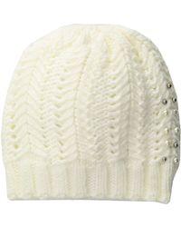 Vince Camuto - Chunky Herringbone Stitch Hat (grey Heather) Caps - Lyst