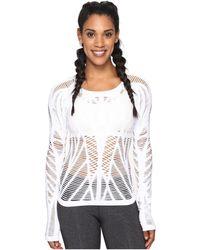 Alo Yoga - Wanderer Long Sleeve (white) Women's Clothing - Lyst