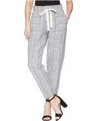 Two By Vince Camuto - Slim Leg Pull-on Drawstring Stripe Pants - Lyst