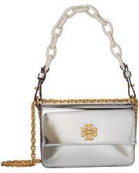 Tory Burch - Kira Mini Bag (silver) Cross Body Handbags - Lyst
