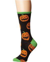 Socksmith - Halloween Pumpkins (black) Women's Crew Cut Socks Shoes - Lyst
