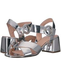 b34ba5245ad3 J.Crew - Metallic Penny Sandal (silver Mirror) Women s Shoes - Lyst