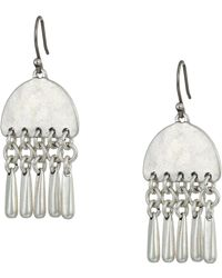 Lucky Brand - Paddle Earrings (silver) Earring - Lyst