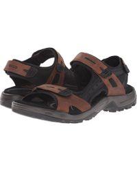Ecco - Yucatan Sandal (espresso/cocoa Brown/black) Men's Toe Open Shoes - Lyst