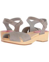 Swedish Hasbeens - Mirja Debutant (grey Nubuck) Women's Sandals - Lyst