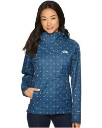 The North Face - Print Venture Jacket (blue Wing Teal Airy Bandana Print) Women's Coat - Lyst