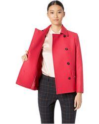 Paul Smith - Short Peacoat (fuchsia) Women's Coat - Lyst