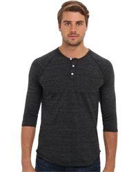 Alternative Apparel - 3/4 Raglan Henley (eco Grey/eco Pacific Blue) Men's Long Sleeve Pullover - Lyst
