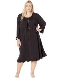 Eileen West - Plus Size Knit Modal Waltz Nightgown (black) Women's Pajama - Lyst