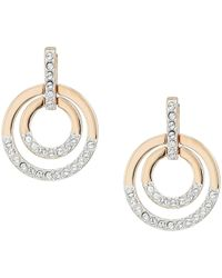 Swarovski - Medium Circle Pierced Earrings (white) Earring - Lyst