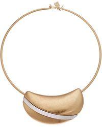 Robert Lee Morris Sculptured Wire Wrap Necklace - Metallic