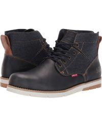 Levi's - Levi's(r) Shoes Jax Lux 501 (navy/tan) Men's Shoes - Lyst