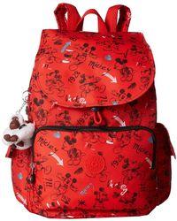 034aa2dbcac Kipling - Disney Mickey Mouse Citypack Backpack (sketch Red) Backpack Bags  - Lyst