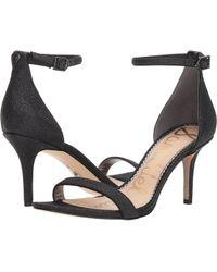Sam Edelman - Patti Strappy Sandal Heel (rose Gold Liquid Metallic) High Heels - Lyst