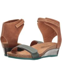 5bb9aa774184 Naot - Prophecy (oily Dune Nubuck oily Coal Nubuck) Women s Shoes - Lyst