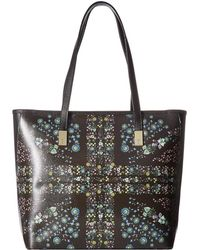 Ted Baker - Unity Floral Leather Shopper - Lyst