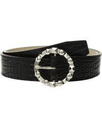 Steve Madden - Croco W/ Stud Buckle (black) Women's Belts - Lyst