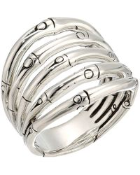 John Hardy - Bamboo Wide Ring (silver) Ring - Lyst