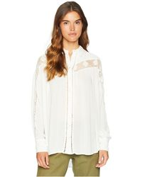 Free People - Katie Bird Button Down (ivory) Women's Clothing - Lyst