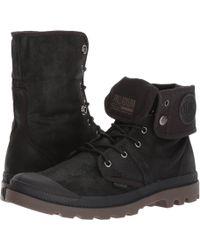 Palladium - Pallabrouse Bgy Wax (black/dark Gum) Athletic Shoes - Lyst